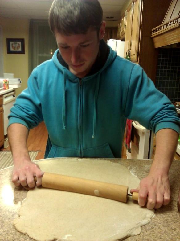 Tyler making Donut dough