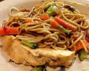 Chinese Szechuan Peanut Sauce and Noodles