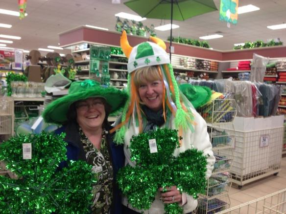 Jess and Me in our Irish Attire
