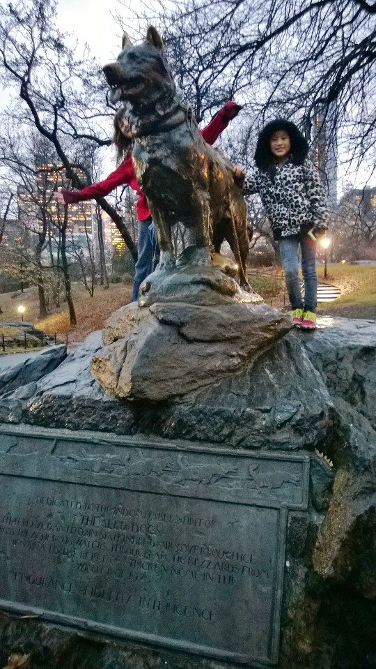 Balto Statue in Central Park with Jenna